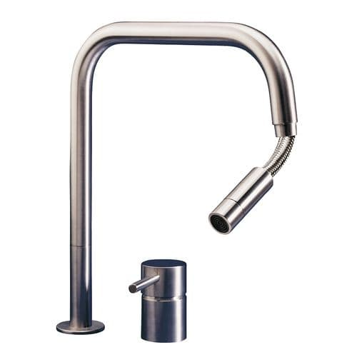 MGS F2 SQ E Stainless Steel Kitchen Tap