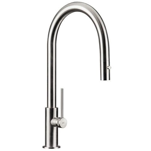 MGS Spin D Stainless Steel Pull Out Kitchen Tap
