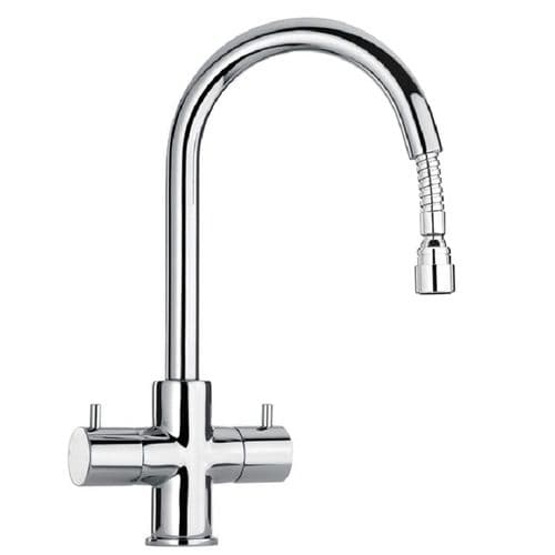 Paini Cox Twin Lever Pull Out Kitchen Mixer Tap