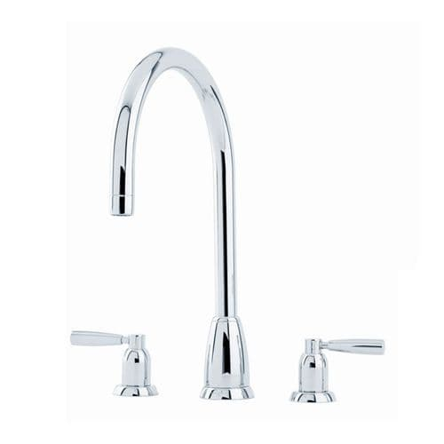 Perrin and Rowe Callisto C Spout Lever Handle 3 Hole Kitchen Tap