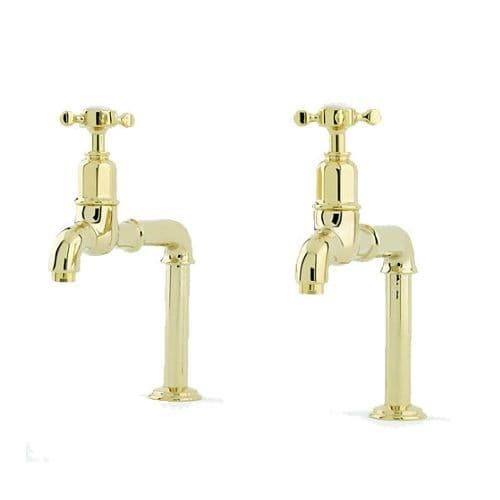 Perrin and Rowe Mayan Crosshead Handle Deck Mounted Kitchen Taps