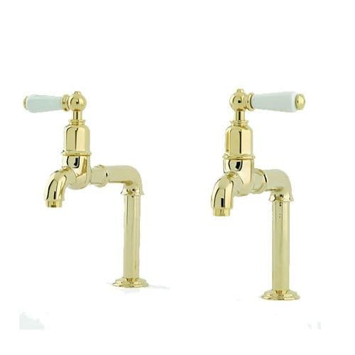 Perrin and Rowe Mayan Lever Handle Deck Mounted Kitchen Taps