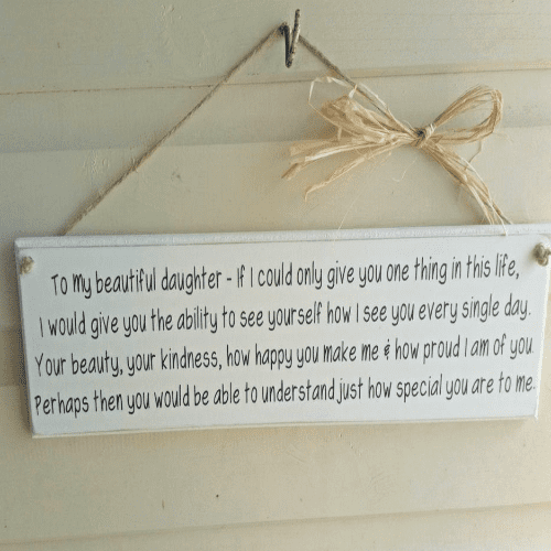 Routered Inspirational Plaque For A Daughter