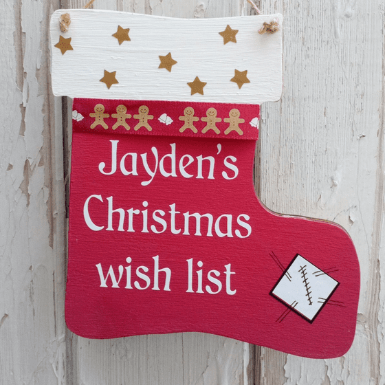 Wooden Christmas Wish List With Hidden Peg