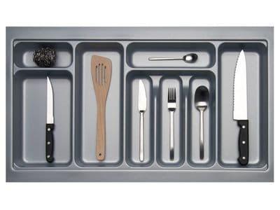 800mm Wide 450mm Deep Blum Tandembox Cutlery Insert - Grey