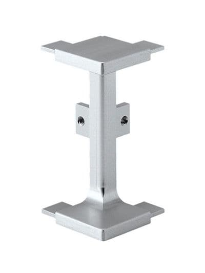 Aluminium mid profile, external corner connector 90 degree