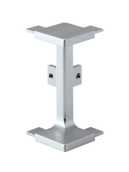 Aluminium mid profile, external corner connector 90 degree