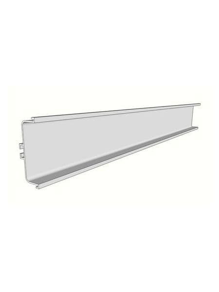 Aluminium mid profile for drawers, 4100x73x26mm