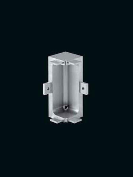 Aluminium mid profile, internal corner joint 90 degree