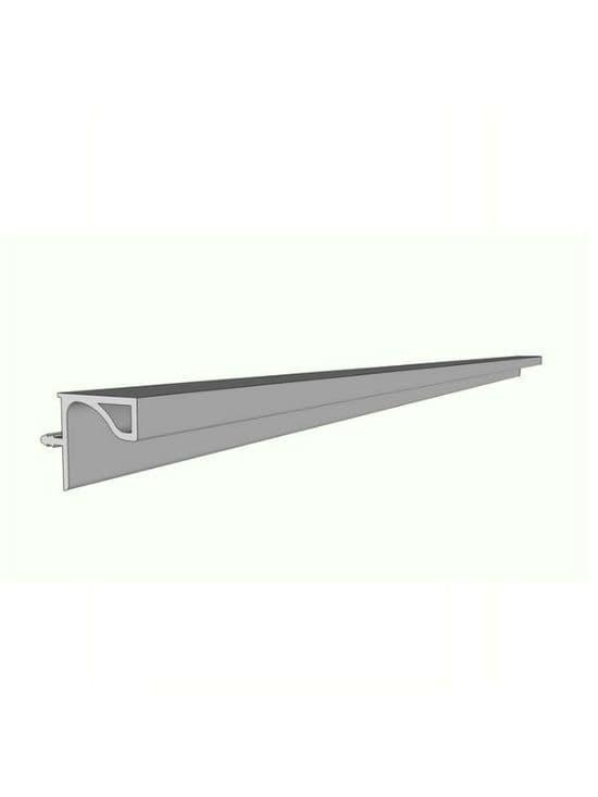 Aluminium profile for wall cabinets, 3900x19.6x20mm -  Handleless Rail Profiles