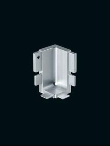 Aluminium top profile, internal corner joint 90 degree