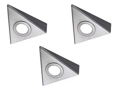 Bermuda HD LED Triangle Light, warm white, pack of 3 & Driver