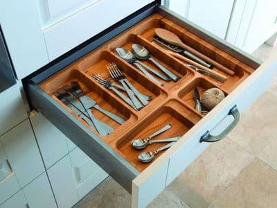 Blum Tandem cutlery insert, 600mm unit, beech