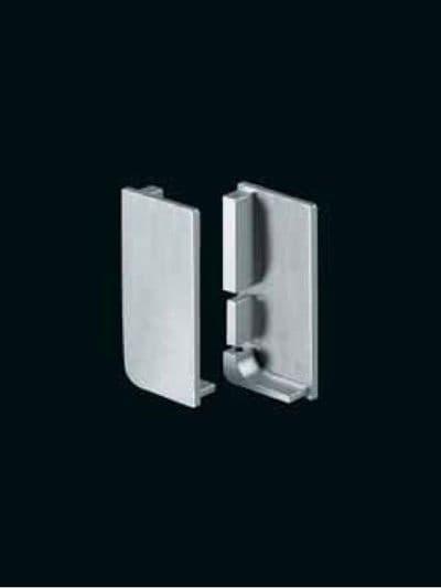 End caps for aluminum top profiles, pair, 1 left & 1 right hand