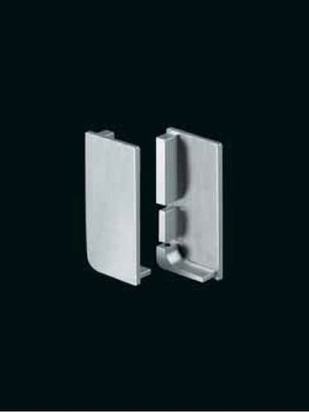 End caps for aluminum top profiles, pair, 1 left & 1 right hand
