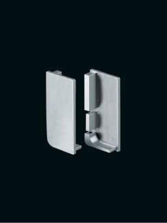 End caps for aluminum top profiles, pair, 1 left & 1 right hand -  Handleless Rail Profiles