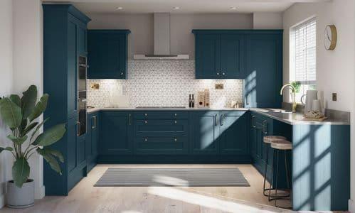 Mornington Shaker Hartforth Blue Kitchens