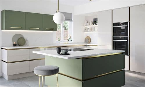True Handleless Gloss Dove Grey Kitchens