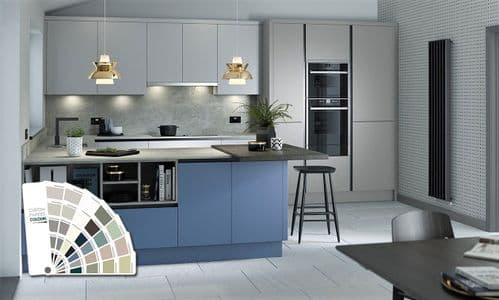True Handleless Matt Custom Painted Kitchens