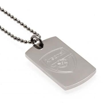 Arsenal Dog Tag & Chain with Engraved Crest