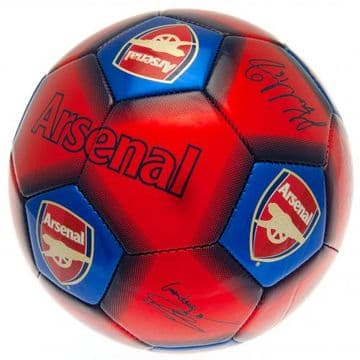 Arsenal Football with Signatures