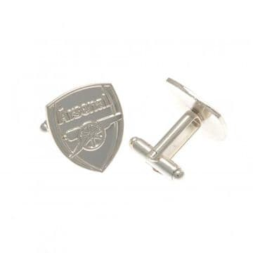 Arsenal Silver Plated Formed Cufflinks