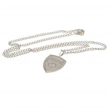 Arsenal Silver Plated Pendant & Chain XL