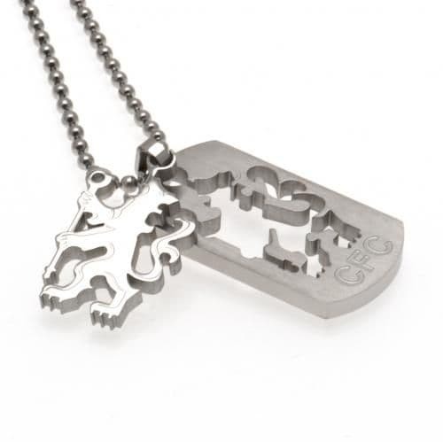 Chelsea FC Dog Tag & Chain CO | Jewellery | CFC Merchandise | Gifts Shop