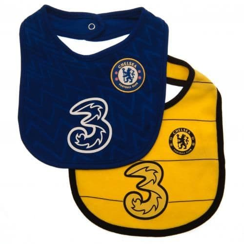 Chelsea FC Baby Bibs BY (Pack of 2) | CFC Clothing [Football Gifts Shop]