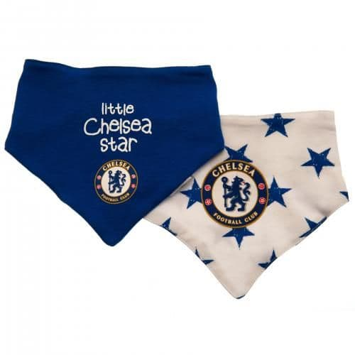 Chelsea FC Baby Bibs ST (Pack of 2) | CFC Clothing [Football Gifts Shop]