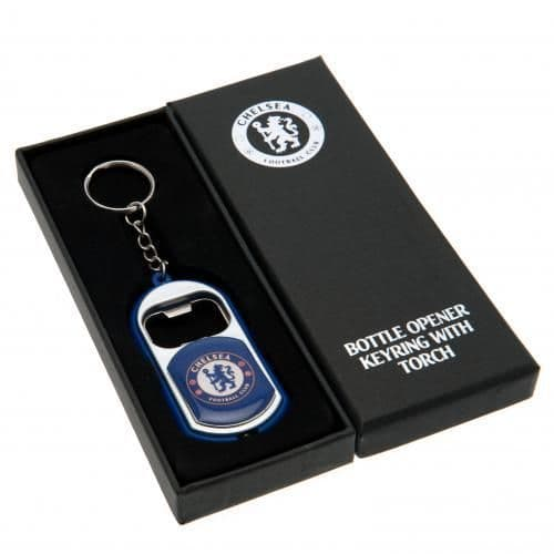 Chelsea FC Bottle Opener Keyring with Torch | CFC Merchandise | Football Gifts