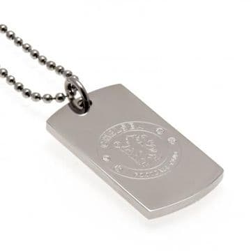 Chelsea FC Dog Tag & Chain with Engraved Crest