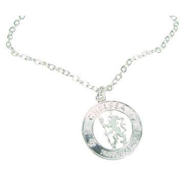 Chelsea FC Silver Plated Pendant & Chain CR