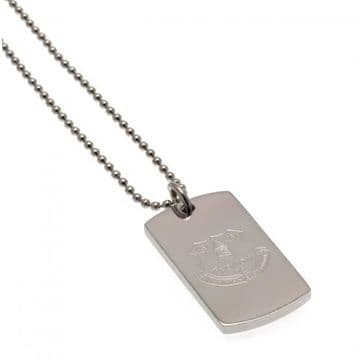 Everton Engraved Crest Dog Tag & Chain