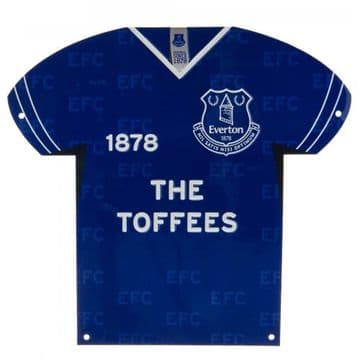 Everton Metal Shirt Sign