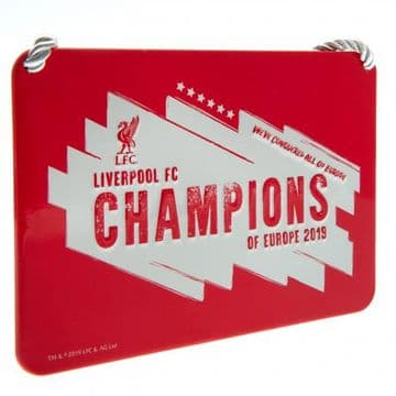 Liverpool FC Champions of Europe 2019 Sign