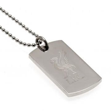 Liverpool FC Dog Tag & Chain with Engraved Crest LB