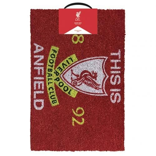 Liverpool FC Doormat TIA | Unusual Gifts | LFC Merchandise [ Football Gifts Shop ]