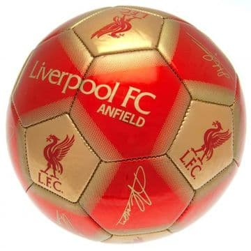 Liverpool FC  Football with Signatures