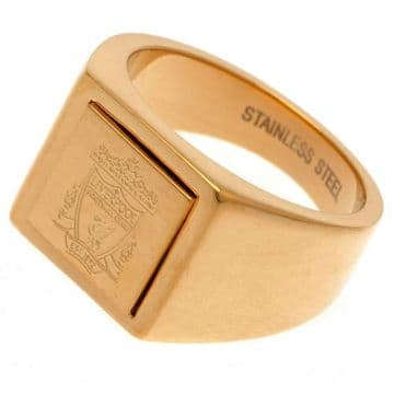 Liverpool FC Gold Plated Signet Ring - Large