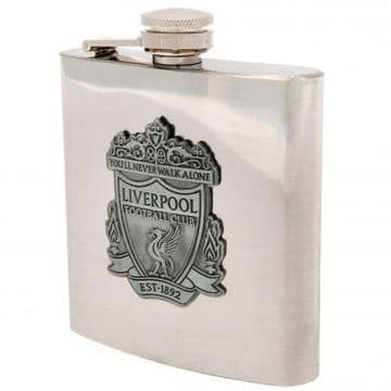 Liverpool FC Hip Flask in Chrome