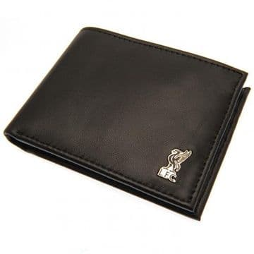 Liverpool FC Leather Wallet with Metal Crest
