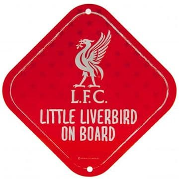 Liverpool FC 'Little Liverbird' Baby on Board Sign