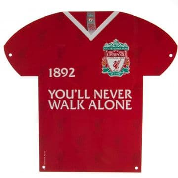 Liverpool FC  Metal Shirt Sign CR
