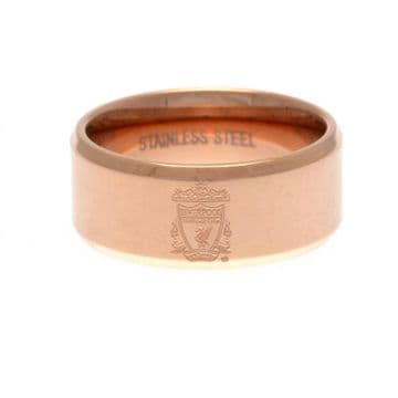 Liverpool FC Rose Gold Plated Ring -  Small