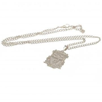 Liverpool FC Silver Plated Pendant & Chain XL