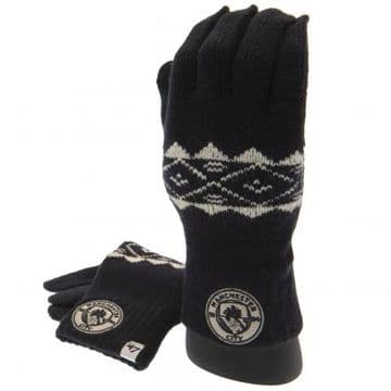Manchester City Adult's Knitted Gloves