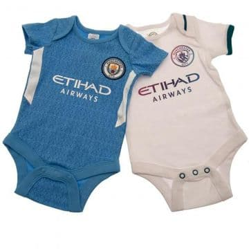 Manchester City Babygrow SQ 12-18 Months - (Pack of 2)