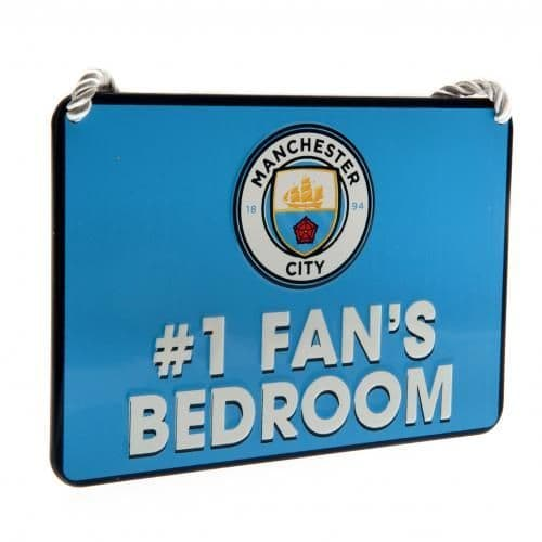 Manchester City Bedroom Sign Number 1 Fan | MCFC Merchandise [ Gifts Shop ]