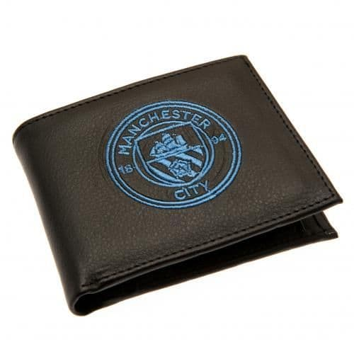 Manchester City Embroidered Wallet   MCFC Merchandise [ Gifts for Men ]